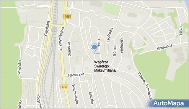 Gdynia, Focha Ferdynanda, marsz., mapa Gdyni