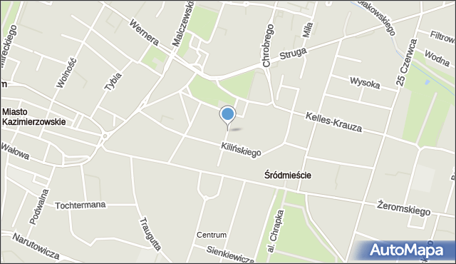 Radom, Focha Ferdynanda, marsz., mapa Radomia