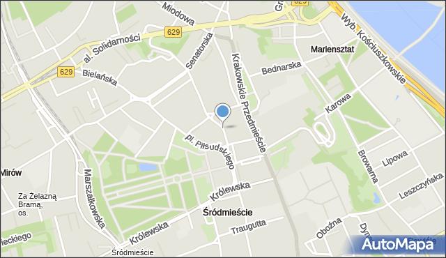 Warszawa, Focha Ferdynanda, marsz., mapa Warszawy