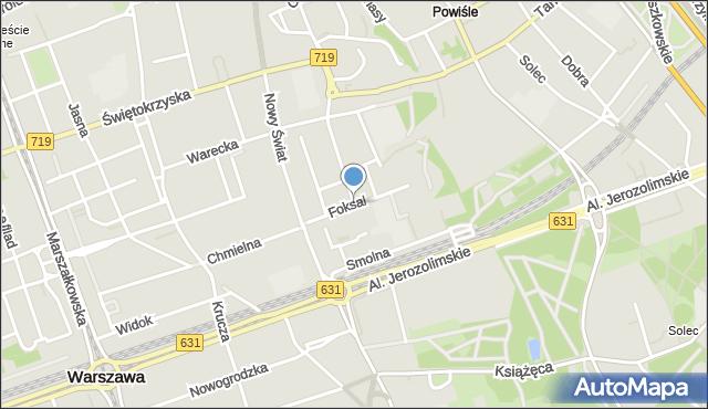 Warszawa, Foksal, mapa Warszawy