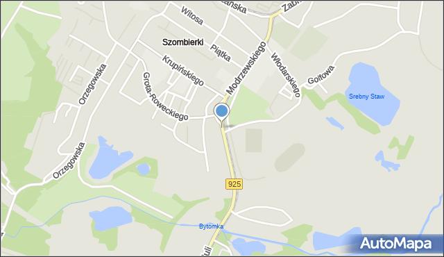 Bytom, Frycza Modrzewskiego Andrzeja, mapa Bytomia