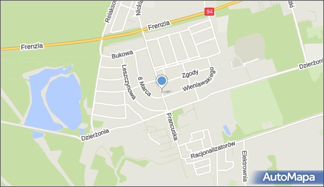 Bytom, Francuska, mapa Bytomia