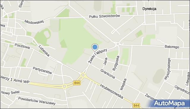 Chełm, Franciszka Żwirki i Stanisława Wigury, mapa Chełma