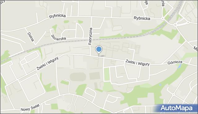 Mikołów, Franciszka Żwirki i Stanisława Wigury, mapa Mikołów