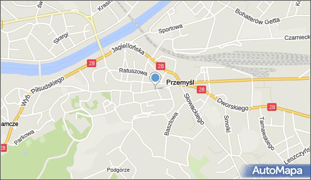 Przemyśl, Franciszkańska, mapa Przemyśla