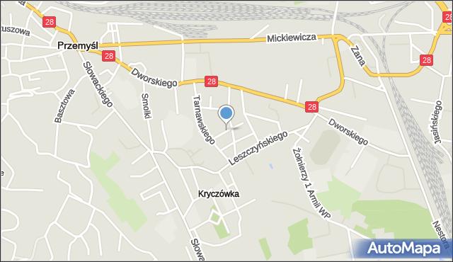 Przemyśl, Frankowskiego Ignacego, mapa Przemyśla