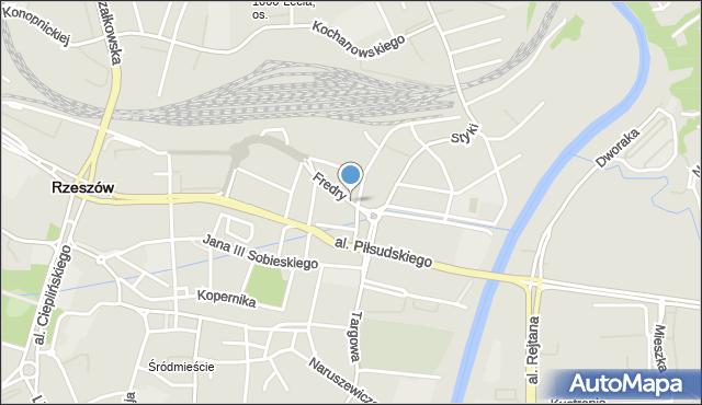 Rzeszów, Fredry Aleksandra, mapa Rzeszów