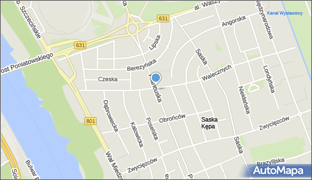 Warszawa, Francuska, mapa Warszawy
