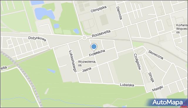 Zabrze, Froehlicha Józefa, mapa Zabrza