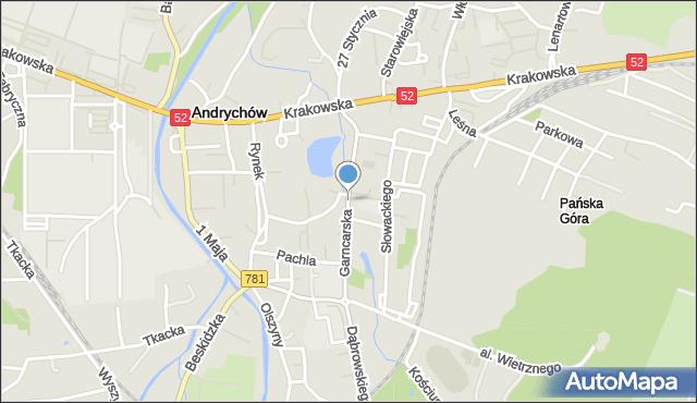 Andrychów, Garncarska, mapa Andrychów