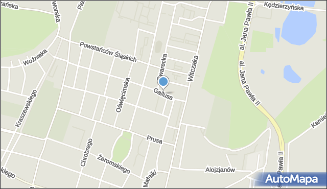 Bytom, Gallusa Józefa, mapa Bytomia