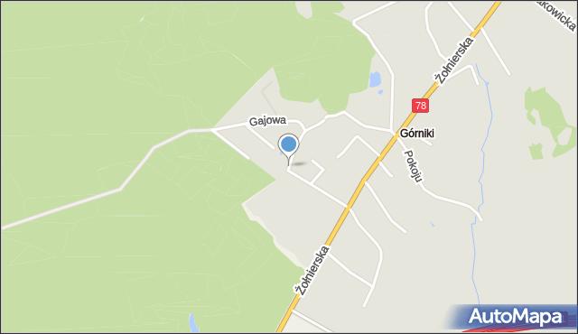 Bytom, Gajowa, mapa Bytomia
