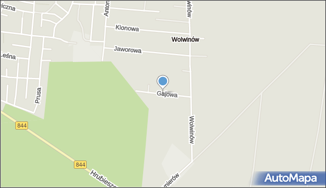 Chełm, Gajowa, mapa Chełma