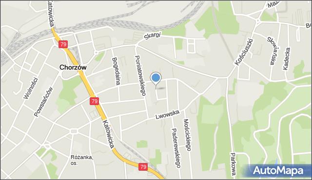 Chorzów, Gajowa, mapa Chorzów