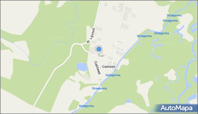 Gałów, Gałówek, mapa Gałów