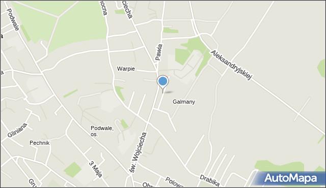 Jaworzno, Galmany, mapa Jaworzno