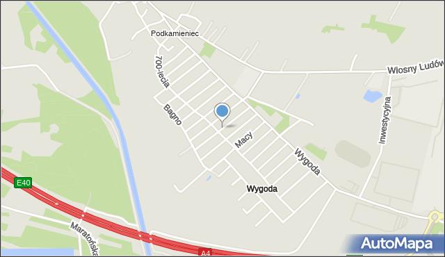 Jaworzno, Galla Anonima, mapa Jaworzno