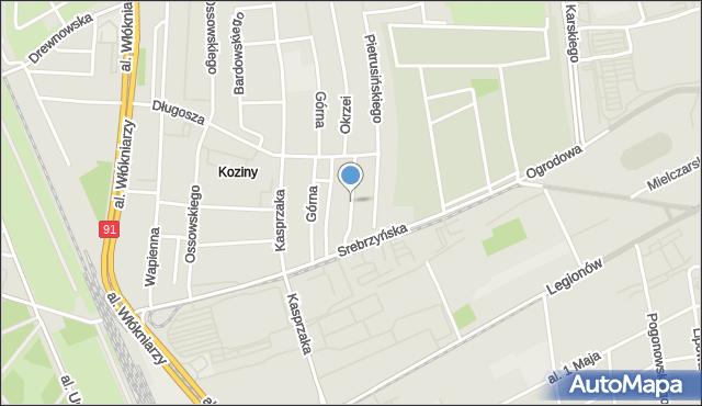 Łódź, Gazowa, mapa Łodzi