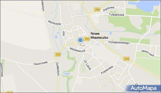 Nowe Miasteczko, Garncarska, mapa Nowe Miasteczko