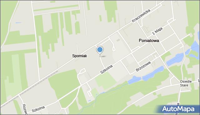 Poniatowa powiat opolski, Garażowa, mapa Poniatowa powiat opolski