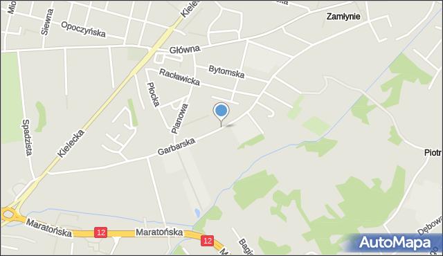 Radom, Garbarska, mapa Radomia