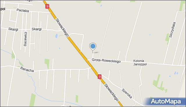 Radom, Gauze Jana, mapa Radomia