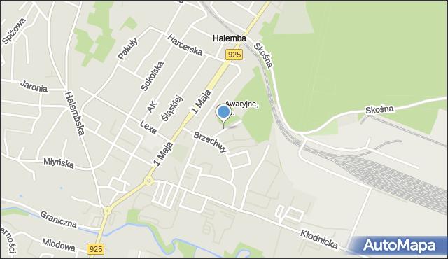 Ruda Śląska, Gałczyńskiego Konstantego Ildefonsa, mapa Rudy Śląskiej