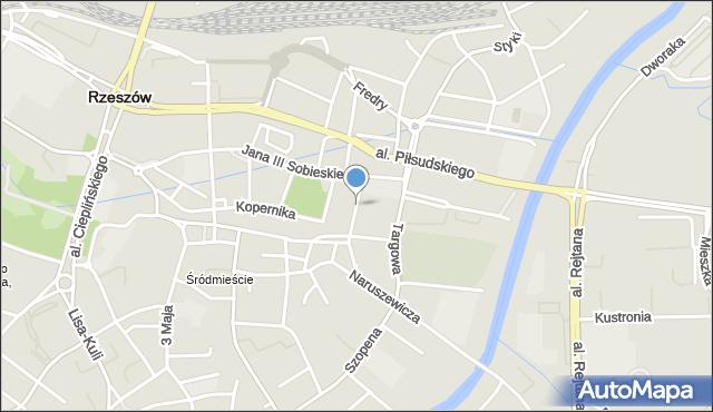 Rzeszów, Gałęzowskiego Jacentego, mapa Rzeszów