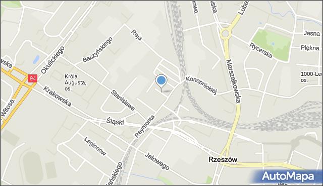 Rzeszów, Gałczyńskiego Konstantego Ildefonsa, mapa Rzeszów