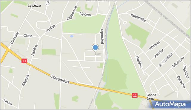Tarnowskie Góry, Garusa Franciszka, mapa Tarnowskie Góry