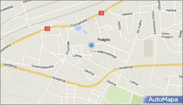 Toruń, Galona Rajmunda, mapa Torunia