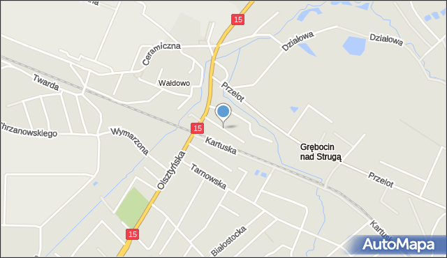 Toruń, Gawędy, mapa Torunia