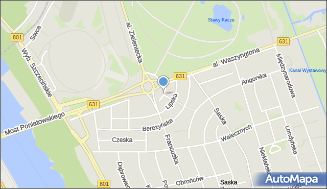 Warszawa, Galijska, mapa Warszawy