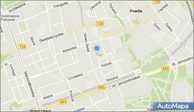 Warszawa, Gałczyńskiego Konstantego Ildefonsa, mapa Warszawy