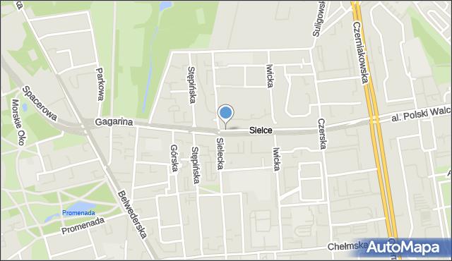 Warszawa, Gagarina Jurija, mapa Warszawy