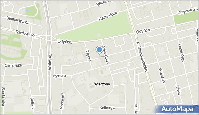 Warszawa, Gandhiego Mahatmy, mapa Warszawy