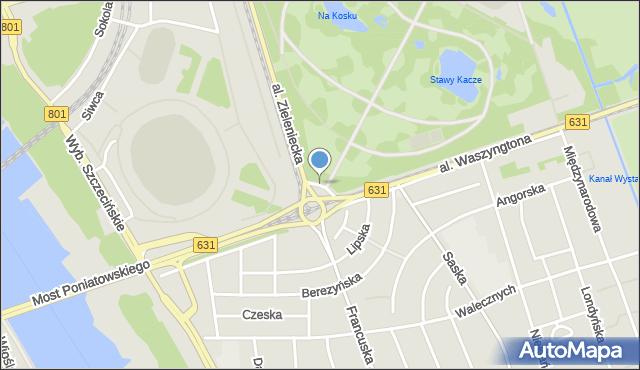 Warszawa, Gallijska, mapa Warszawy