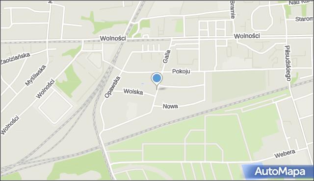 Zabrze, Galla Jana, mapa Zabrza