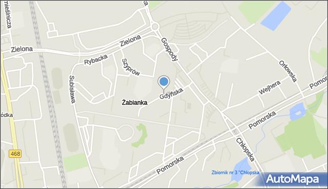 Gdańsk, Gdyńska, mapa Gdańska