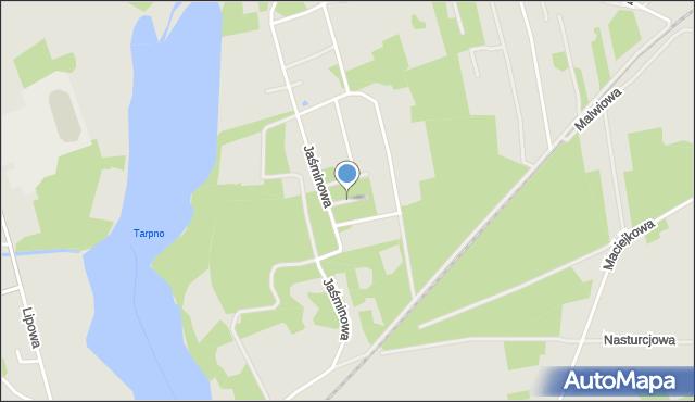 Grudziądz, Gerberowa, mapa Grudziądza