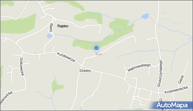 Kraków, Geologów, mapa Krakowa