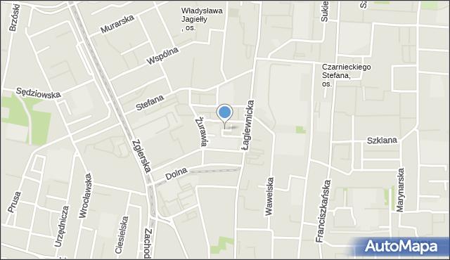 Łódź, Gęsia, mapa Łodzi