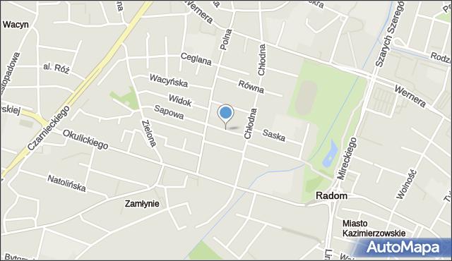 Radom, Gęsia, mapa Radomia