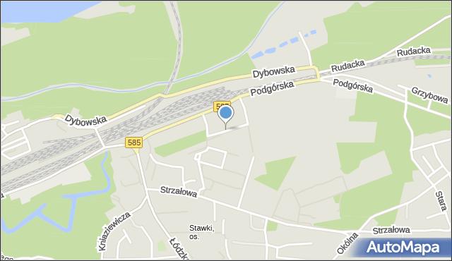 Toruń, Gerwazego, mapa Torunia