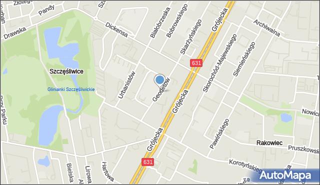 Warszawa, Geodetów, mapa Warszawy