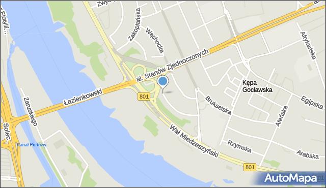 Warszawa, Genewska, mapa Warszawy