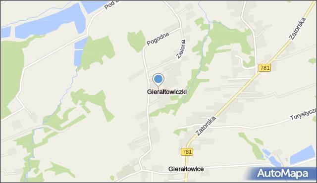 Gierałtowiczki, Gierałtowiczki, mapa Gierałtowiczki