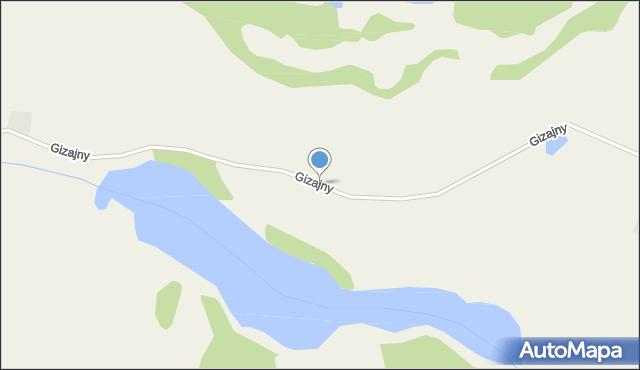 Gizajny, Gizajny, mapa Gizajny