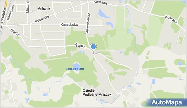 Grudziądz, Gierymskiego Aleksandra, mapa Grudziądza