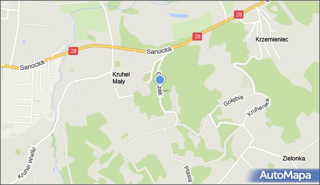 Przemyśl, Gierczak Emilii, mapa Przemyśla